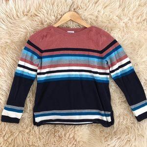 TALBOTS Stripped Crewneck Sweater size Small